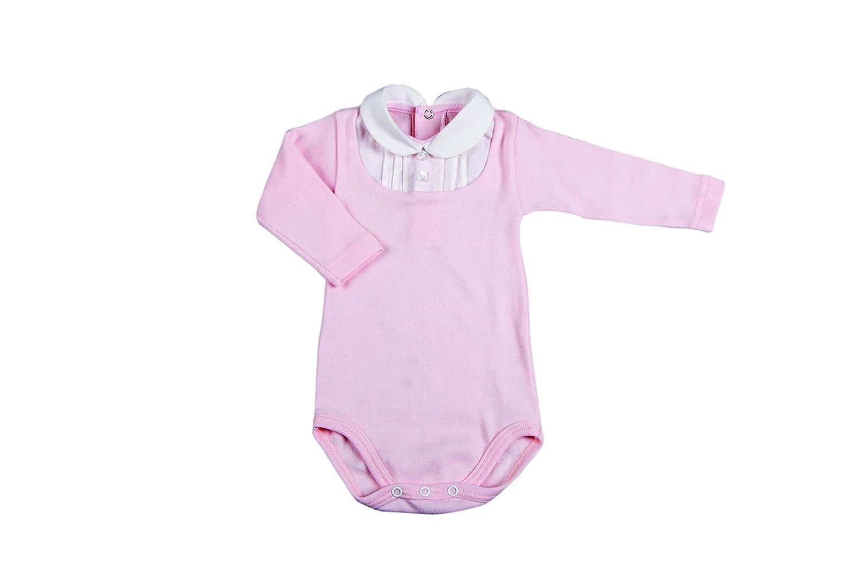 BabyVip Tessuto a Costina Modello Button-Down 100/% Cotone Body per Bambino e Bambina