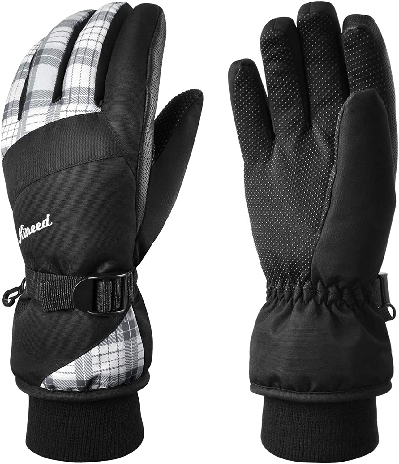 KINEED Waterproof Ski Gloves Touchscreen 3M Thinsulate Winter Warm Snow Gloves for Women Youth : Sports & Outdoors