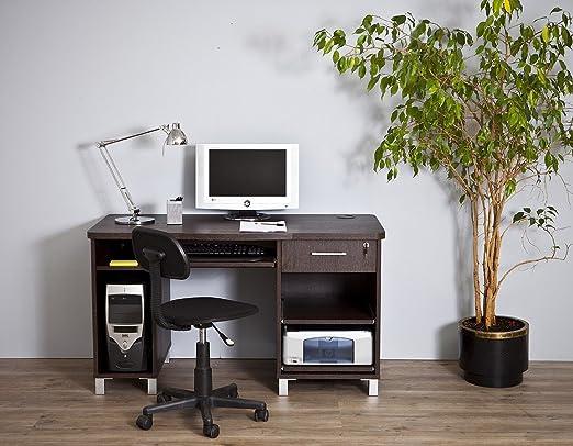 Mesa de Ordenador Barcelona 4035 wengue: Amazon.es: Hogar