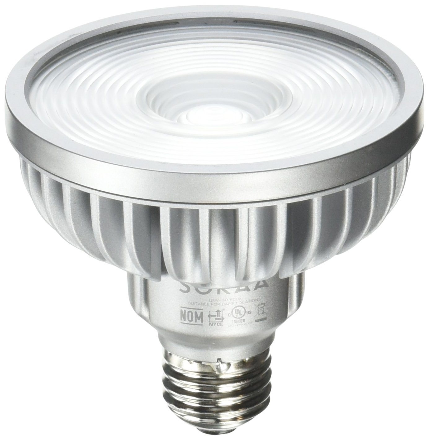 Bulbrite SP30S-18-60D-827-03 SORAA 18.5W LED PAR30S 2700K PREM. 60° Dimmable Light Bulb, Silver
