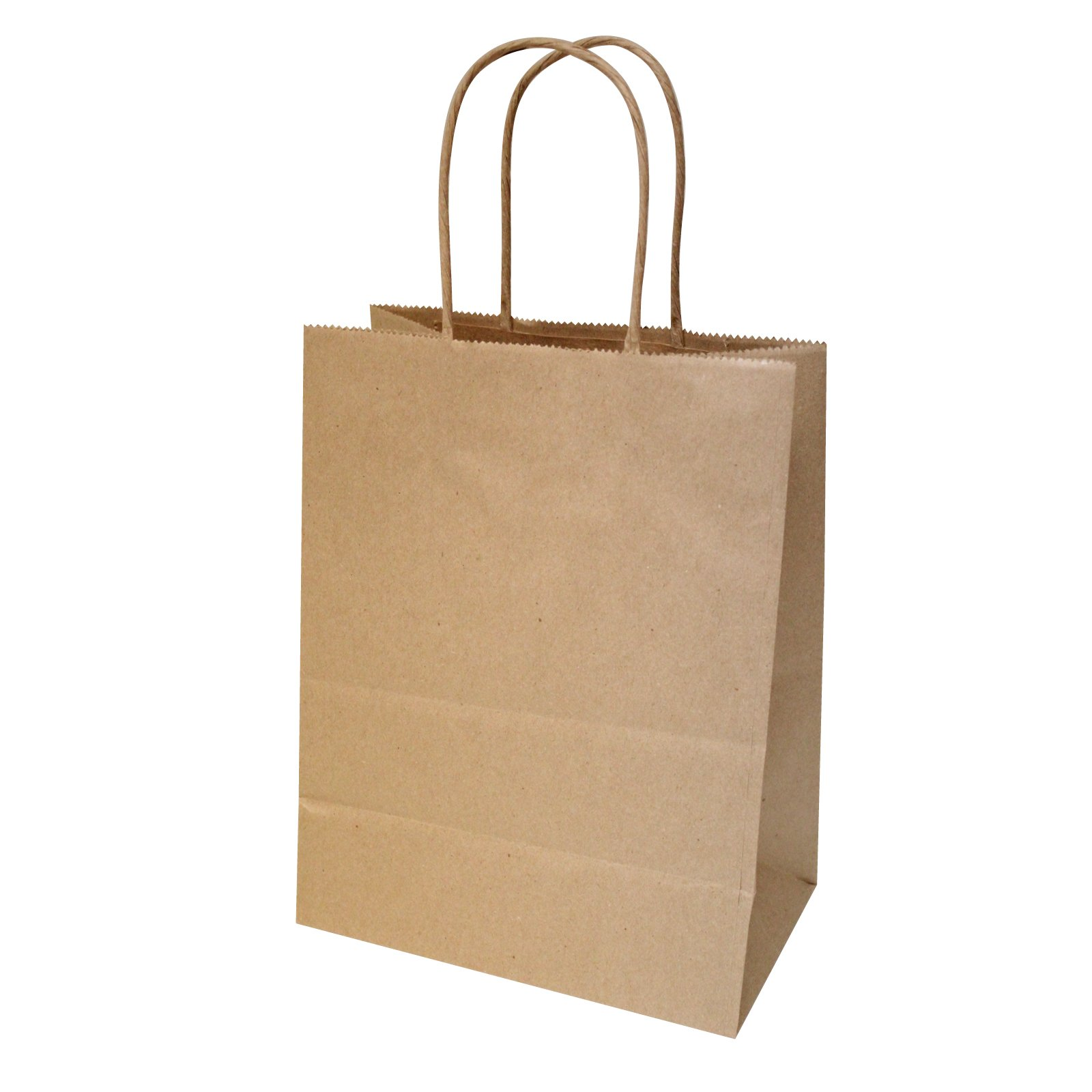 Flexicore Packaging 8''x4.75''x10''-100 Pcs-Brown Kraft Paper Shopping, Mechandise, Party, Gift Bags by Duro (Image #3)