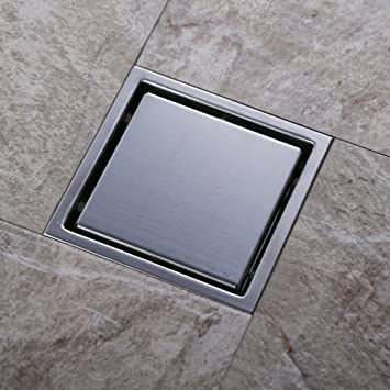 Homelody 150 X 150 Mm Chrome Stainless Steel Floor Drain Shower
