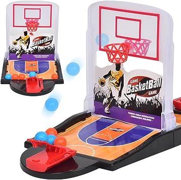Ocamo Juego de Mesa de Mini Baloncesto de Tiro Doble para Niños Juego de Escritorio para casa Familia: Amazon.es: Juguetes y juegos