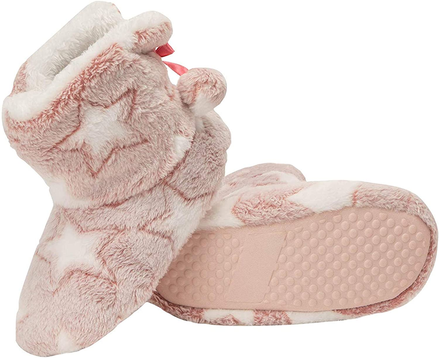 Girls Size 2//3 Pink Heart Soft A-Line Slippers House Shoes New