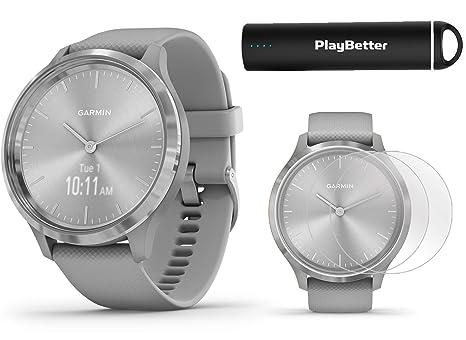 Amazon.com: Garmin vivomove 3 Hybrid GPS Smartwatch (Silver ...