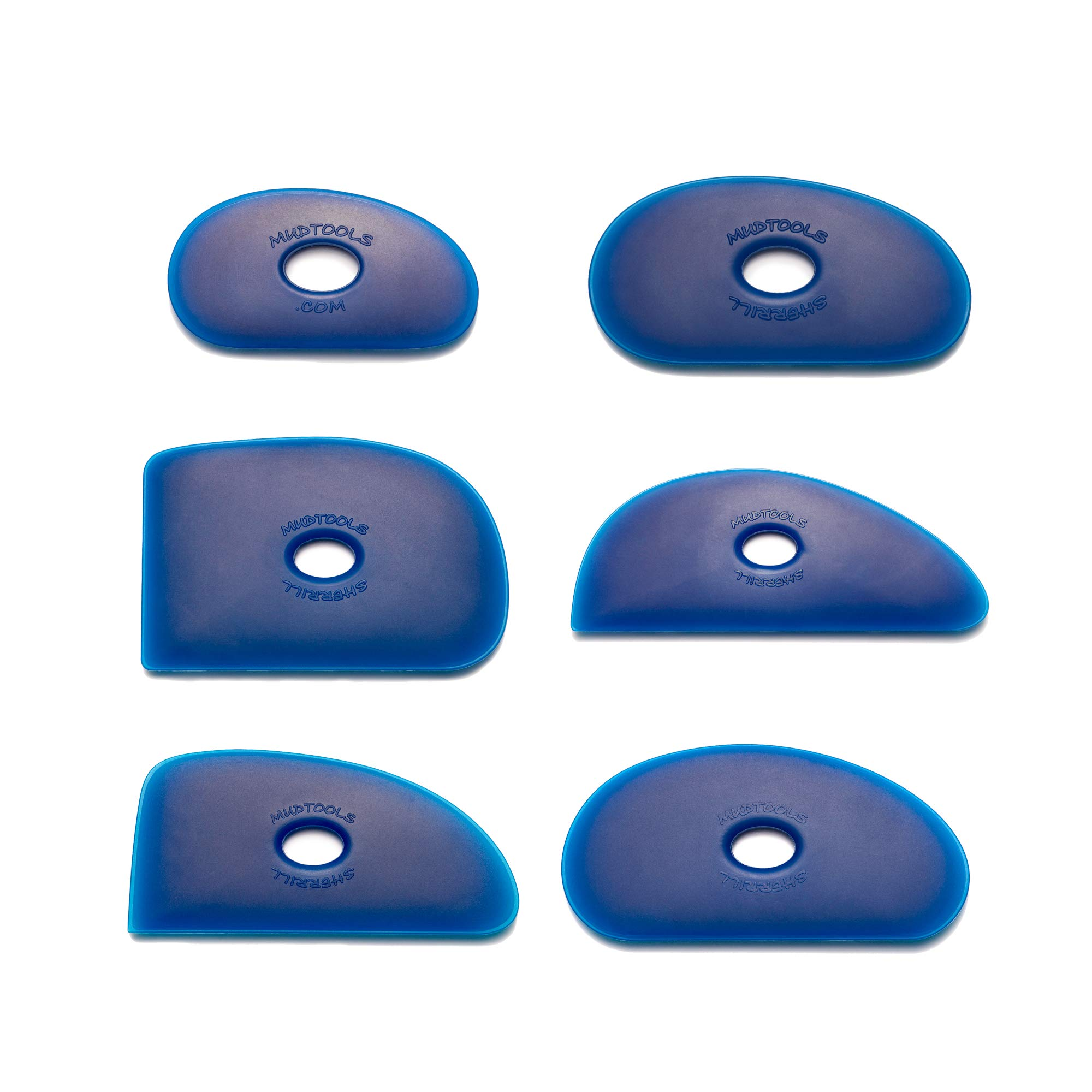 Mudtools Polymer Rib Blue Firm - All 6 Shapes - Ceramics, Pottery, Clay - BA