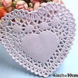 150pcs Heart Doilies Lace Mini Color Paper