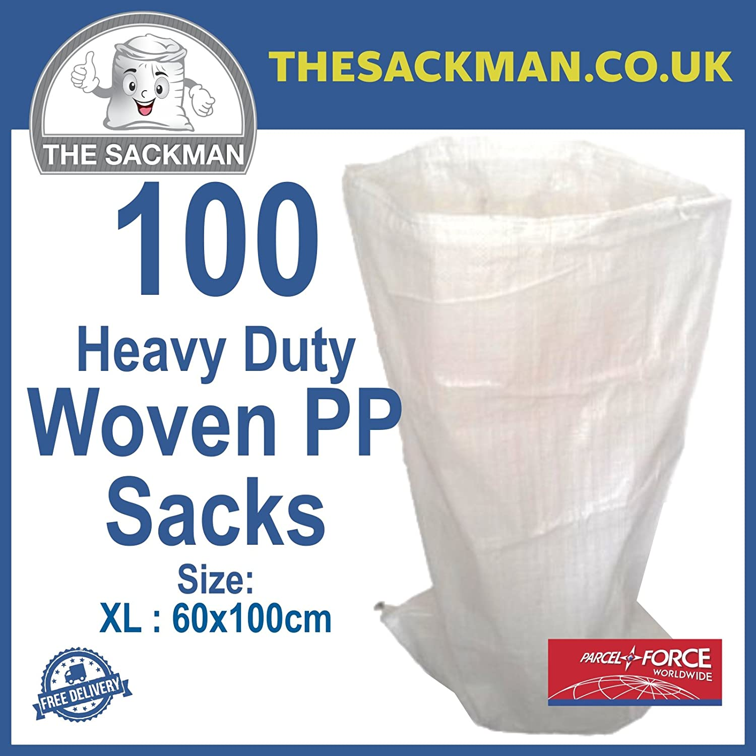 RUBBLE SACKS WOVEN LARGE EXTRA HEAVY DUTY SAND BAG POLYPROPYLENE BUILDER Building Materials & Supplies