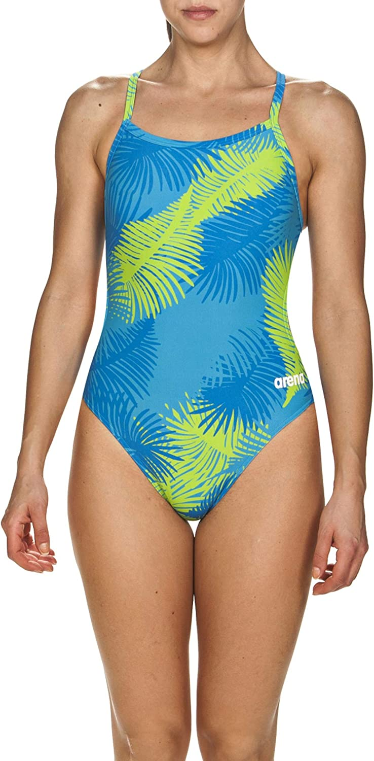 Arena Womens Womens Challenge Back MaxLife One Piece Athletic Training Swimsuit