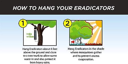 How to hang your eradicators: photo