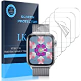 LK [6 Pack] Screen Protector for Apple Watch 40mm SE/Series 4/5/6 and Apple Watch 38mm Series 3/2/1- Bubble-Free Scratch…
