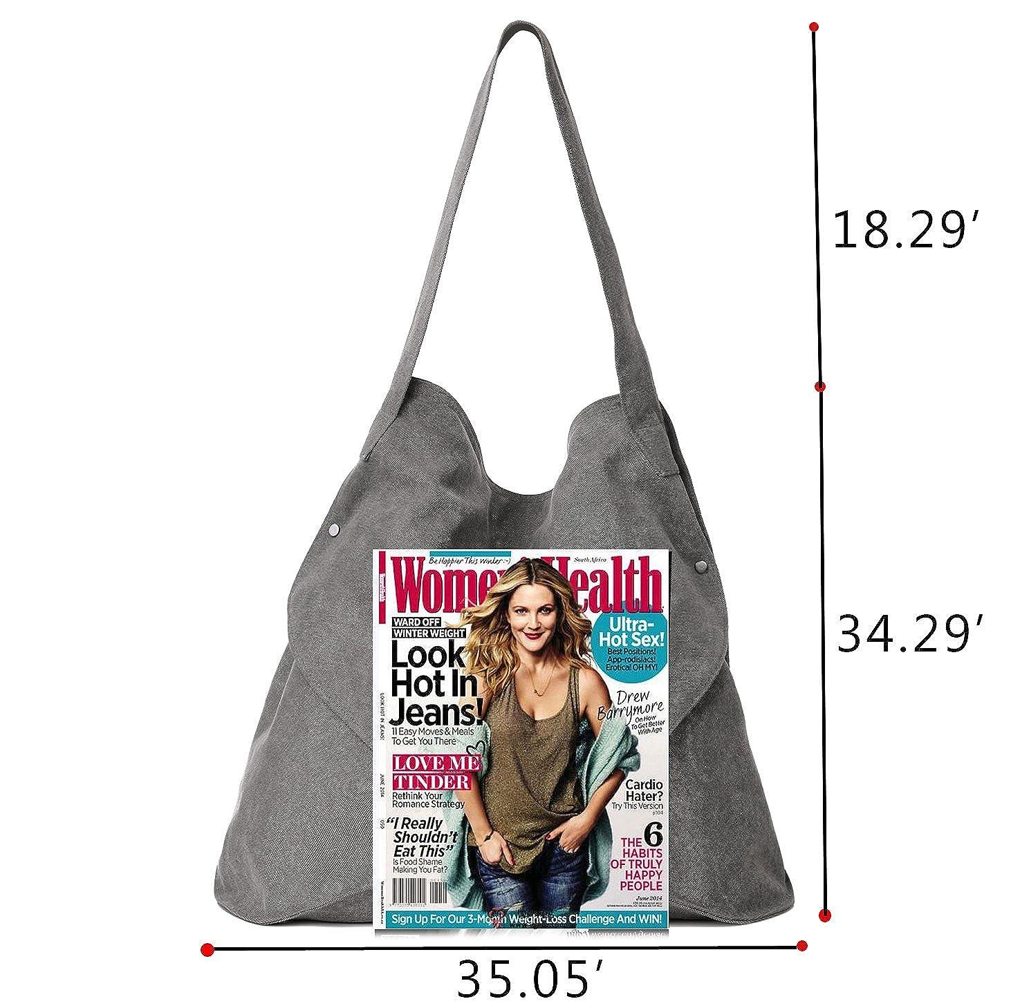 Amazon.com  Oversized Shoulder Bags Hobo Canvas Handbags Crossbody Tote  Shopper Women Purse  Shoes 80cedf9b140a1