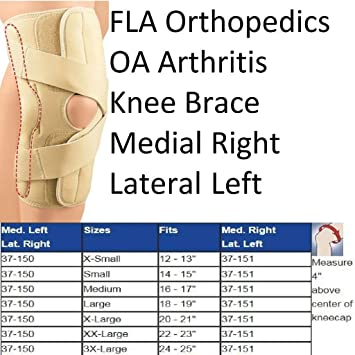 a8d7824a21 Image Unavailable. Image not available for. Color: FLA Orthopedics  37-151LGBEG Oa & Arthritis Knee Brace Right - Lateral Left ...