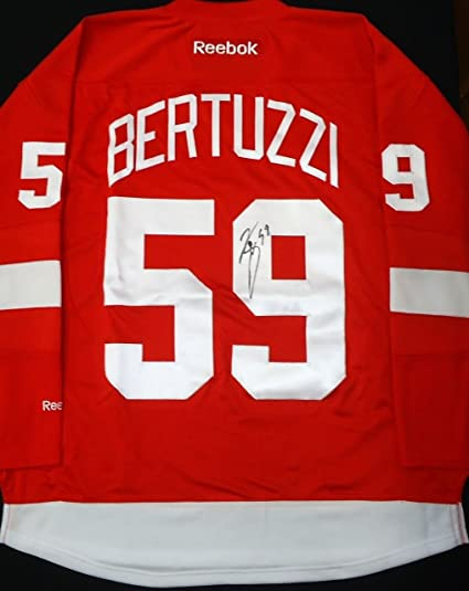 quality design a6b31 4f530 TYLER BERTUZZI AUTOGRAPHED DETROIT RED WINGS HOME JERSEY at ...