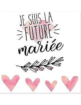 Generique Tatouage Ephemere Future Mariee 80 Mm Amazon Fr Jeux