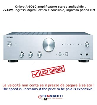 Onkyo A-9010 amplificador estéreo Audiophile, 2 x 44 W, entradas digitales óptico