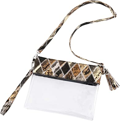 SILVER FAUX LEATHER PVC CLUTCH BAG WITH WRIST STRAP WRISTLET