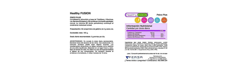 Triptofano con Vitaminas B3, B5 y B6 - PSICOPLUS - Formato ...