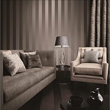 Luxus Metallic Gold Und Braun Strukturierte Streifen Tapete Home Raum Wand  Papier Rollen Für Wohnzimmer,