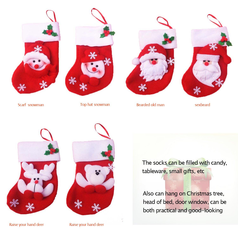 Amazon.com: Amorvue Christmas Decorations 6pcs Christmas Socks ...