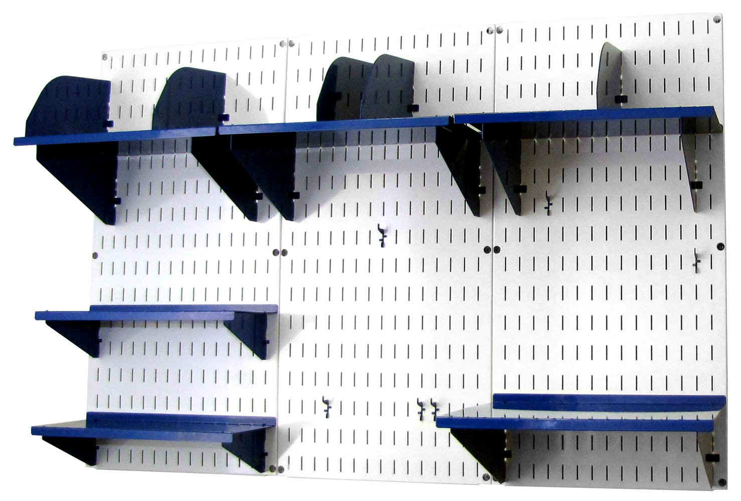 Wall Control Office Organizer Unit Wall Mounted Desk Storage and Blue Accessories (10-OFC-300 WBU)