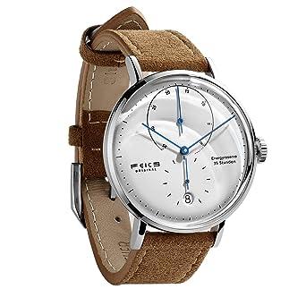 5ac1429835 FEICE 自動巻き腕時計 メンズ 機械式 ドーム アナログ 牛革 時計 男性用 シンプル おしゃれ ビジネス