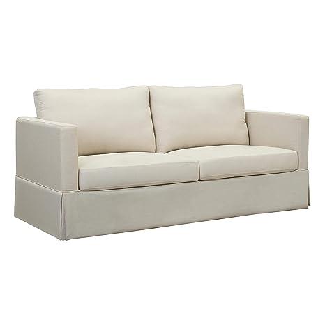 Amazon.com: Traditional Designed Casual Skirted Sofa ...