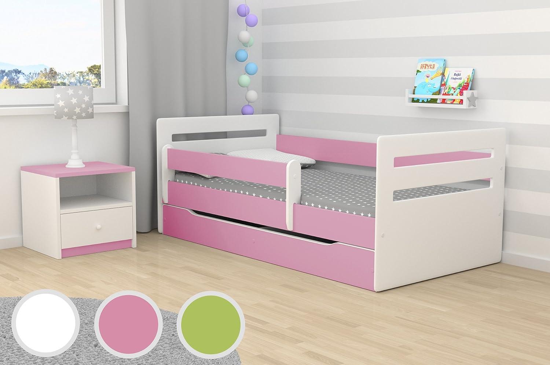 Tomi 160 cm Kocot Kids Kinderbett Jugendbett 80x160 Gr/ün mit Rausfallschutz Matratze Schubalde und Lattenrost Kinderbetten f/ür M/ädchen und Junge