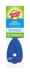 Scotch-Brite Non-Scratch Dishwand Refills, Safe on Dishes and Non-Stick Cookware, Pack of 14 Refills