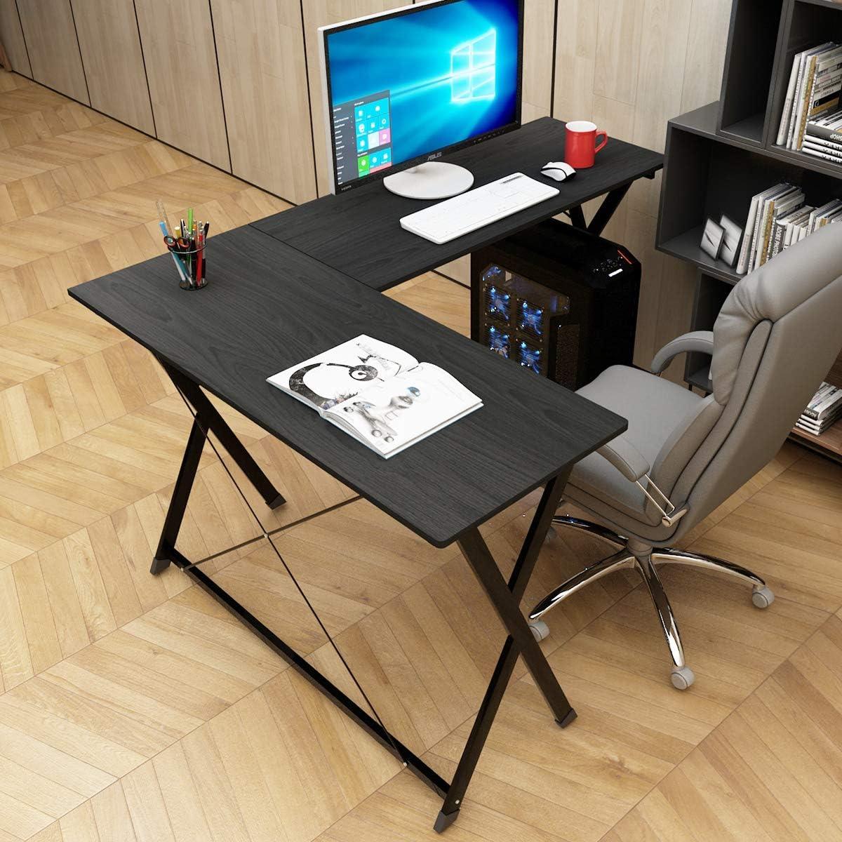 - Soges L-Shaped Deak Large Corner Desk Computer Desk Office Table