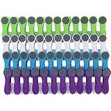 48 Wäscheklammern Soft Grip Softgrip Soft Touch Softtouch 4-farbig weiß blau grün lila