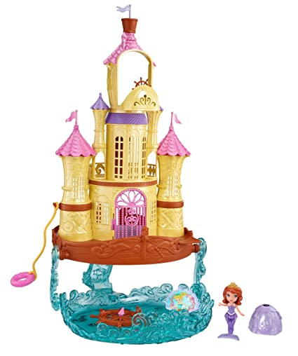 Amazon Com Disney Sofia The First 2 In 1 Sea Palace Playset Toys