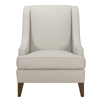 Good Ethan Allen Emerson Chair, Hailey Natural Textured Fabric