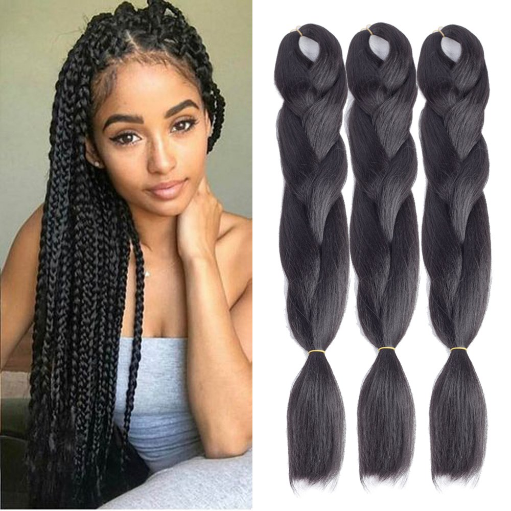 amazoncom dingxiu 5packs24quot 2 tone jumbo braid ombre