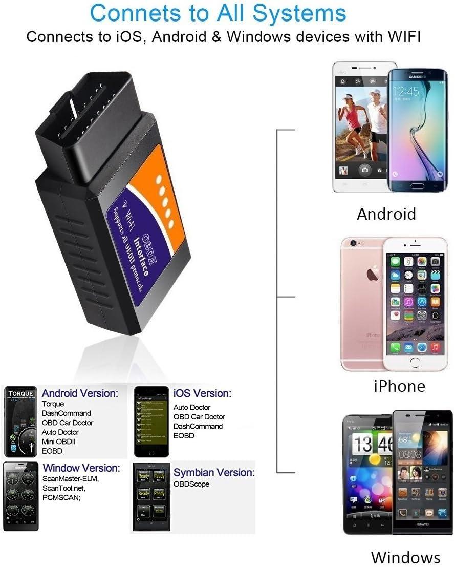 Bluetooth OBD II , Solo per Android Friencity Auto Bluetooth OBD II 2 OBD2 Adattatore Arancia