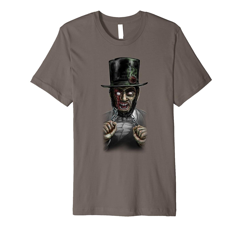 ABRAHAM LINCOLN - werewolf vampire president horror T-shirt-mt