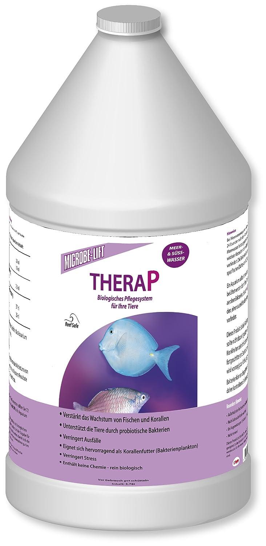 MICROBE-LIFT TheraP - (Qualitäts-Bakterienpräparat, zur optimalen Tierpflege in jedem Meerwasser & Süßwasser Aquarium, für optimale Gesundheit und Wachstum, reduziert Ausfälle, 100 % biologisch, Wasseraufbereiter, ausreichend für bis zu 50.400 Liter), verschiedene Größen