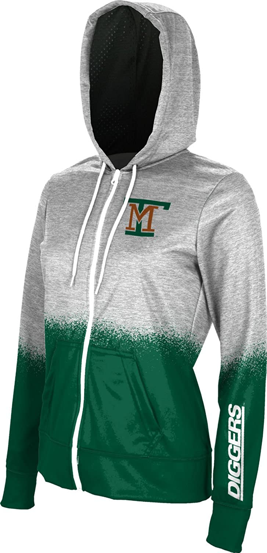 Spray Over ProSphere Montana Tech of The University of Montana Girls Zipper Hoodie School Spirit Sweatshirt