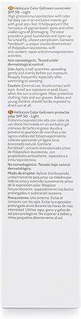 Heliocare Color Gelcream SPF 50 - Fotoprotección Avanzada con Color, Fluido Hidratante en Textura Gel, Acabado Natural, Pieles Normales y Secas, Tono Light, 50ml