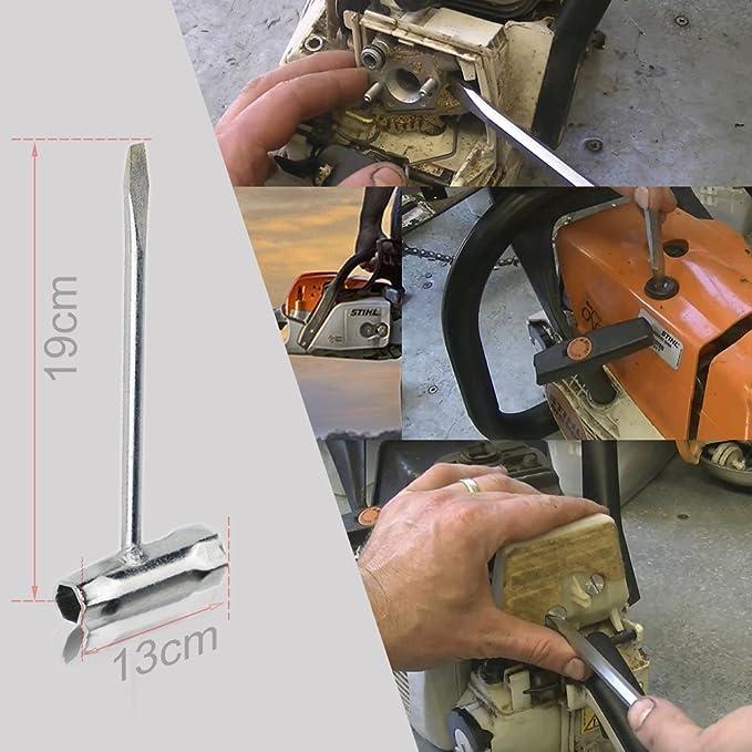 oxoxo Kit de limpieza llave sierra de cadena (Scrench) 13 x 19 mm ...