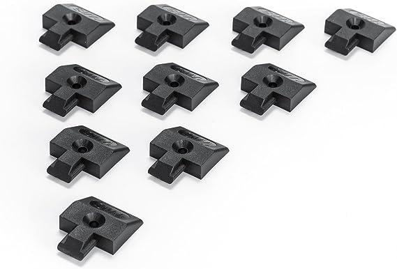 Lasi24 10x Endkappe Einsteckkappe Für Airlineschiene Flache Form Schwarz Kunststoff Auto