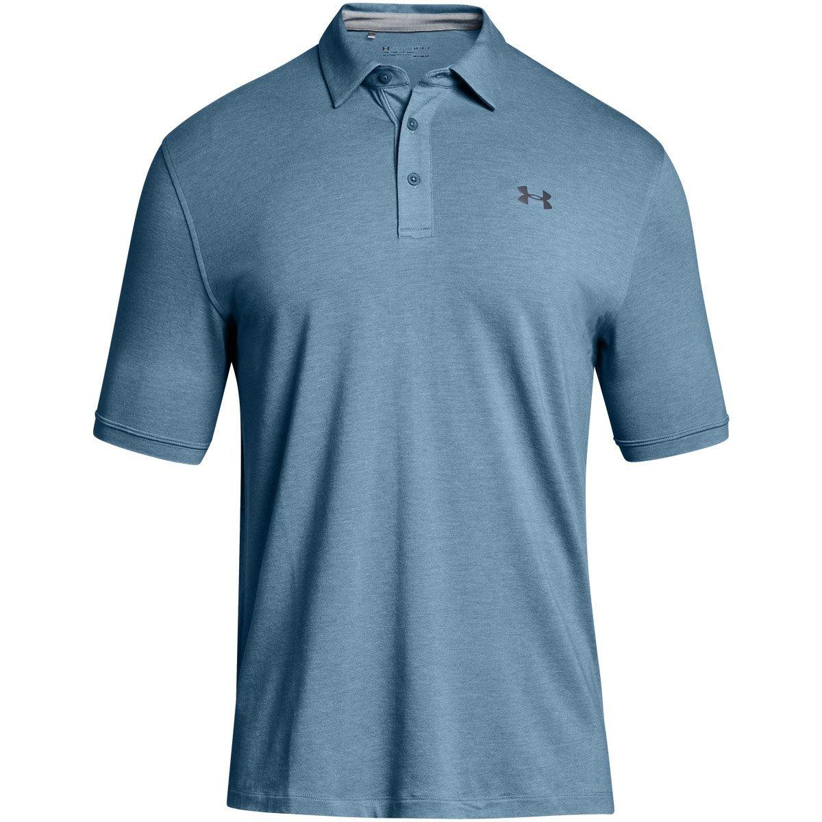 (アンダーアーマー) UNDER ARMOUR チャージドコットンスクランブルロゴ(ゴルフ/ポロシャツ/MEN)[1281003] B071LHJWQV  Bass Blue/Rhino Gray XL