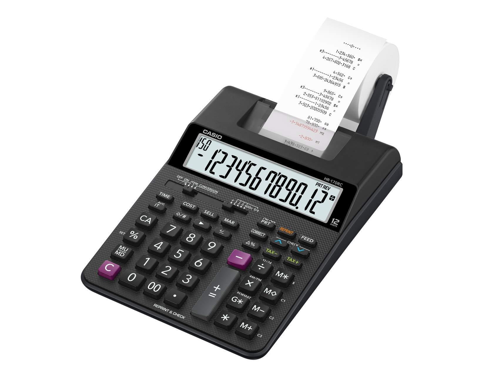 Casio HR-170RC Plus Mini-Desktop Printing Calculator by Casio (Image #2)