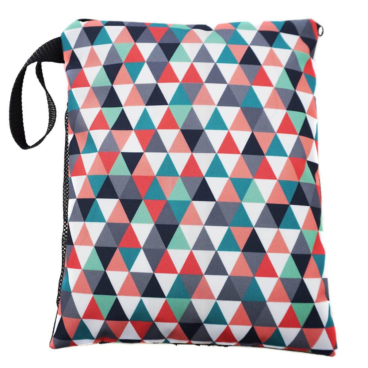 Windeltasche Reise Kosmetiktasche Tasche f/ür schmutzige und saubere Windeln Triangles 063