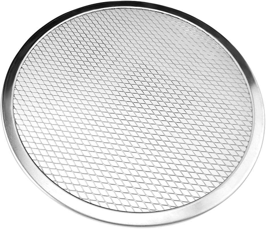 صينية شبكية دائرية لطهي البيتزا بتصميم نحيف من الالومنيوم، 12 انش 9 inch amzBomcomi3961