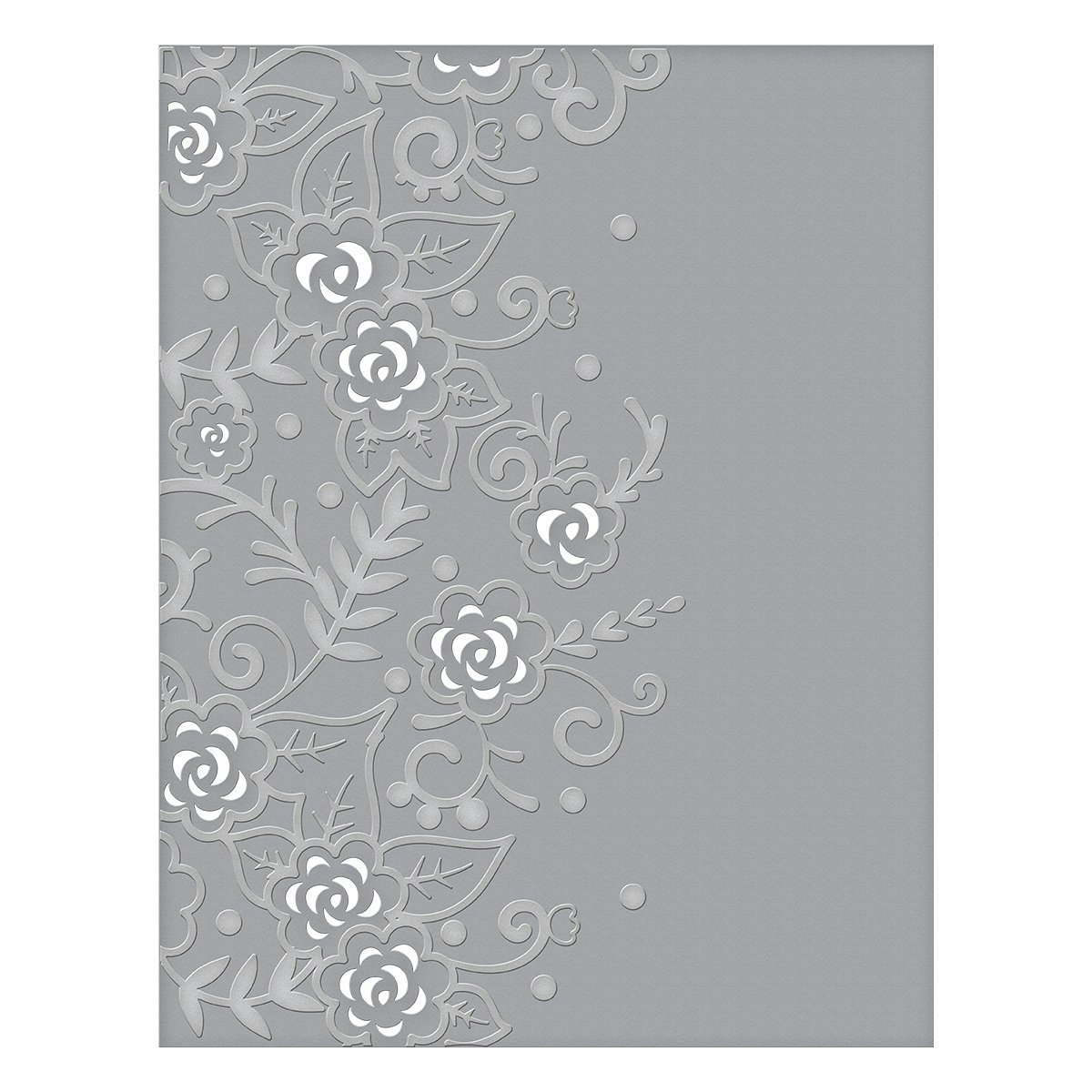 Spellbinders CEF-002 Flower Garden Cut and Emboss Folder, Multi