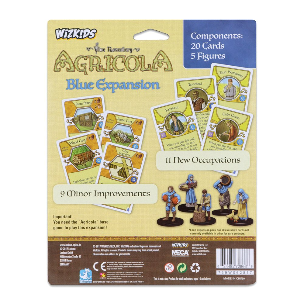 Mayfair Games Europe mfg72866 Agricola Game Expansion: Blue (5 ...