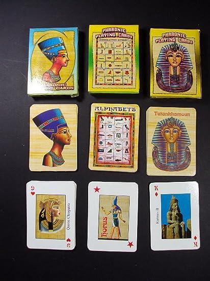 Amazon.com: 2 Juego de cartas con diseños pharaonic Faraón ...
