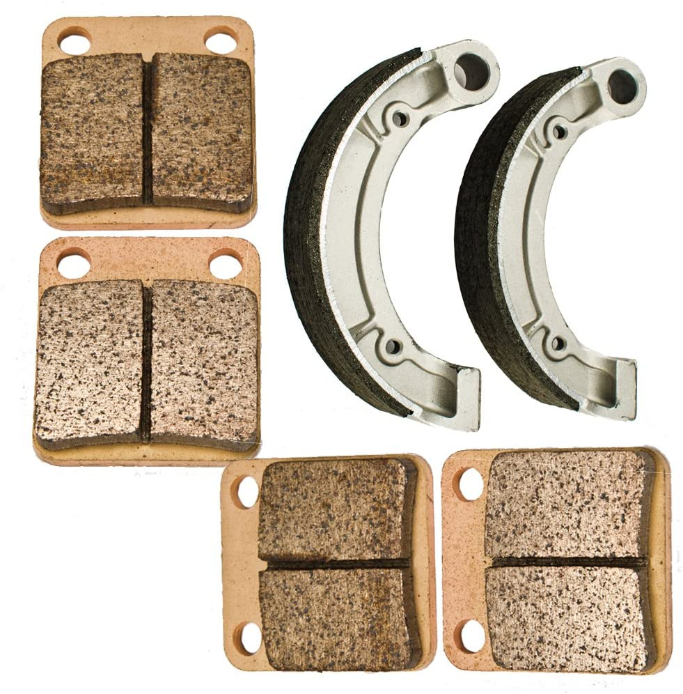 Foreverun Motor Front and Rear Brake Pads Shoes for 2007-2011 Yamaha YFM 350 Grizzly 2x4 4x4 2012 2013
