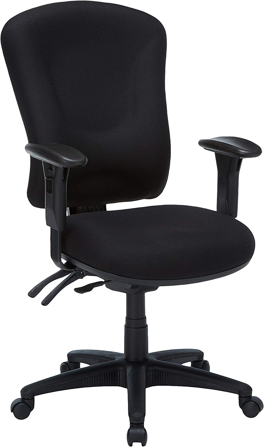 Lorell Managerial Task Chair, 26-3 4 by 26 by 48-1 4-Inch-51-Inch, Black